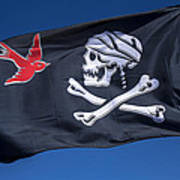 Jack Sparrow Pirate Skull Flag Print by Garry Gay
