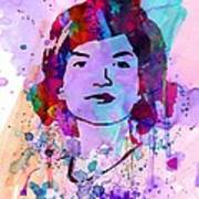 Jackie Kennedy Watercolor Print by Naxart Studio