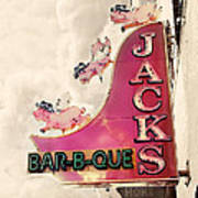 Jacks Bbq Print by Amy Tyler