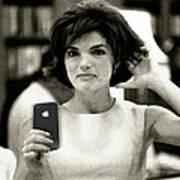 Jacky Kennedy Takes A Selfie Print by Tony Rubino