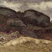 Jaguar Devouring Its Prey Print by Antoine Louis Barye