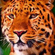 Jaguar Print by Michael Pickett