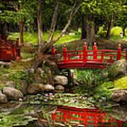 Japanese Garden - Meditation Print by Mike Savad