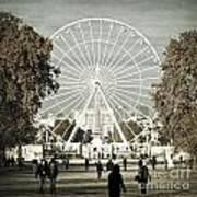 Jardin Des Tuileries Park Paris France Europe  Print by Jon Boyes