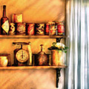 Jars - Kitchen Shelves Print by Mike Savad
