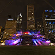 Jay Pritzker Pavilion Chicago Print by Adam Romanowicz
