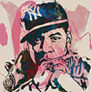 Jay-z Stylised Etching Pop Art Poster Print by Kim Wang