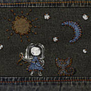 Jeans Stitches Print by Gianfranco Weiss