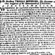 Jefferson: Embargo, 1779 Print by Granger