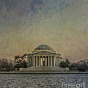 Jefferson Memorial At Dusk Print by Terry Rowe