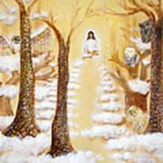Jesus Art - The Christ Childs Asleep Print by Ashleigh Dyan Bayer