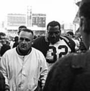 Jim Brown The Great Leaving The Field Print by Retro Images Archive