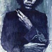 Jimi Hendrix 01 Print by Yuriy  Shevchuk
