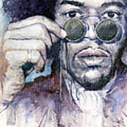Jimi Hendrix 08 Print by Yuriy  Shevchuk