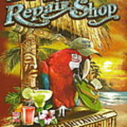 Jimmy Buffett's Flip Flop Repair Shop Print by Desiderata Gallery