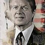 Jimmy Carter Print by Corporate Art Task Force