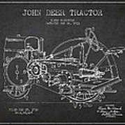 John Deer Tractor Patent Drawing From 1933 Print by Aged Pixel