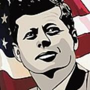 John F. Kennedy 1st Irish Catholic President  Print by Dancin Artworks