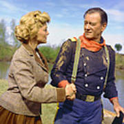 John Wayne In The Horse Soldiers Print by Silver Screen