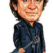 Johnny Cash Print by Art