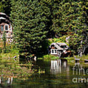 Johnny Sack Cabin Print by Robert Bales