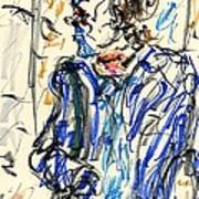 Joker - Bozo Print by Rachel Scott
