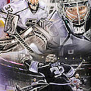 Jonathan Quick Collage Print by Mike Oulton