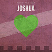 Joshua Books Of The Bible Series Old Testament Minimal Poster Art Number 6 Print by Design Turnpike