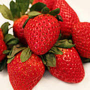Juicy Strawberries Print by Barbara Griffin