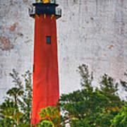 Jupiter Lighthouse Print by Debra and Dave Vanderlaan