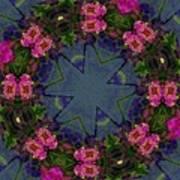 Kaleidoscope Lantana Wreath Print by Cathy Lindsey