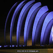 Kauffman Center Of Performing Arts During All-star Week Print by Raye Pond