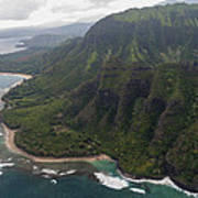 Kee Beach Along The Na Pali Coast - Kauai Hawaii Print by Brian Harig