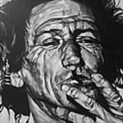 Keith Richards Print by Steve Hunter