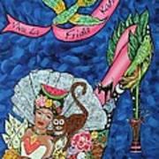 Kick Up Your Heels Frida Print by Ilene Satala