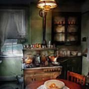Kitchen - 1908 Kitchen Print by Mike Savad