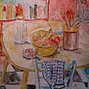 Kitchen In Nashville Print by Lucille Femine