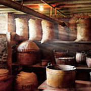 Kitchen - Storage - The Grain Cellar  Print by Mike Savad