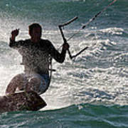 Kite Surfer 01 Print by Rick Piper Photography