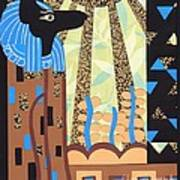 Klimt's Paper Anubis Print by Sarah Durbin