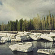 Klondike River Ice Break Print by Priska Wettstein