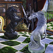 Knight's Magic Print by Jeanne Newton Schoborg