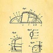 Komenda Vw Beetle Body Design Patent Art 1943 Print by Ian Monk