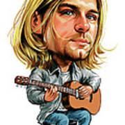 Kurt Cobain Print by Art