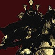 Kusunoki Masahige In Battle Print by Jeff DOttavio