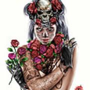 La Calavera Catrina Print by Pete Tapang