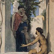 La Charite Romaine Print by William Bouguereau