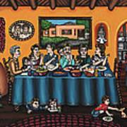 La Familia Or The Family Print by Victoria De Almeida