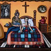 La Partera Or The Midwife Print by Victoria De Almeida