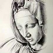 La Pieta Madonna Print by Heather Calderon